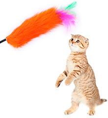 игрушка для кошек - дразнилка пёрышко