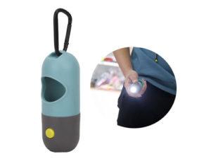 Контейнер для пакетов с экскрементами собак + фонарик