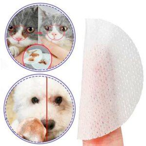 Влажные салфетки для глаз и ушей собак и кошек