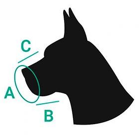 намордник для собак размер