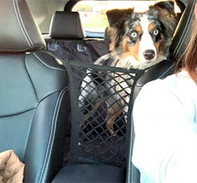 ограничительная сетка для собак в машину